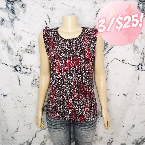 💖3/$25💖 Liz Clairborne Abstract Speckled Blouse